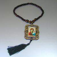 Купить христианские деревянные четки постоянства ручной работы из лунного камня в интернет-магазине Chetki24.ru