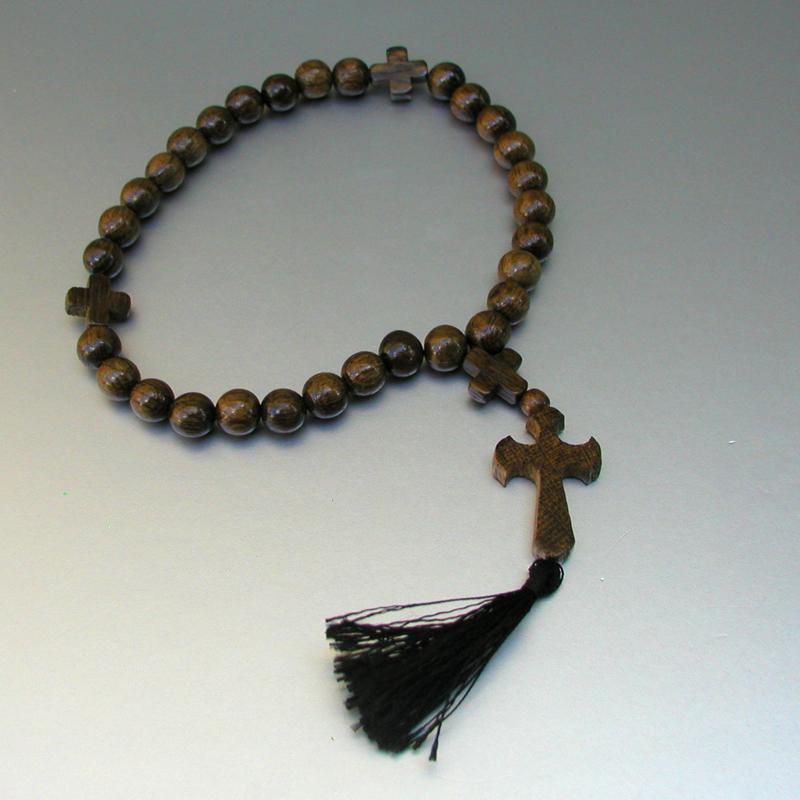 Купить деревянные христианские четки ручной работы из черешни в интернет-магазине Chetki24.ru