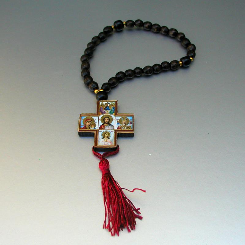Купить христианские деревянные четки верности ручной работы из орехового дерева в интернет-магазине Chetki24.ru
