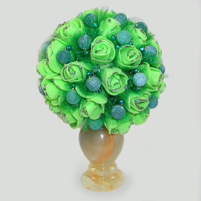 Цветы из агата Лортий