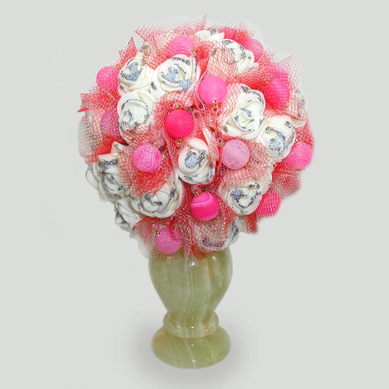 Цветы из агата Маланиоса