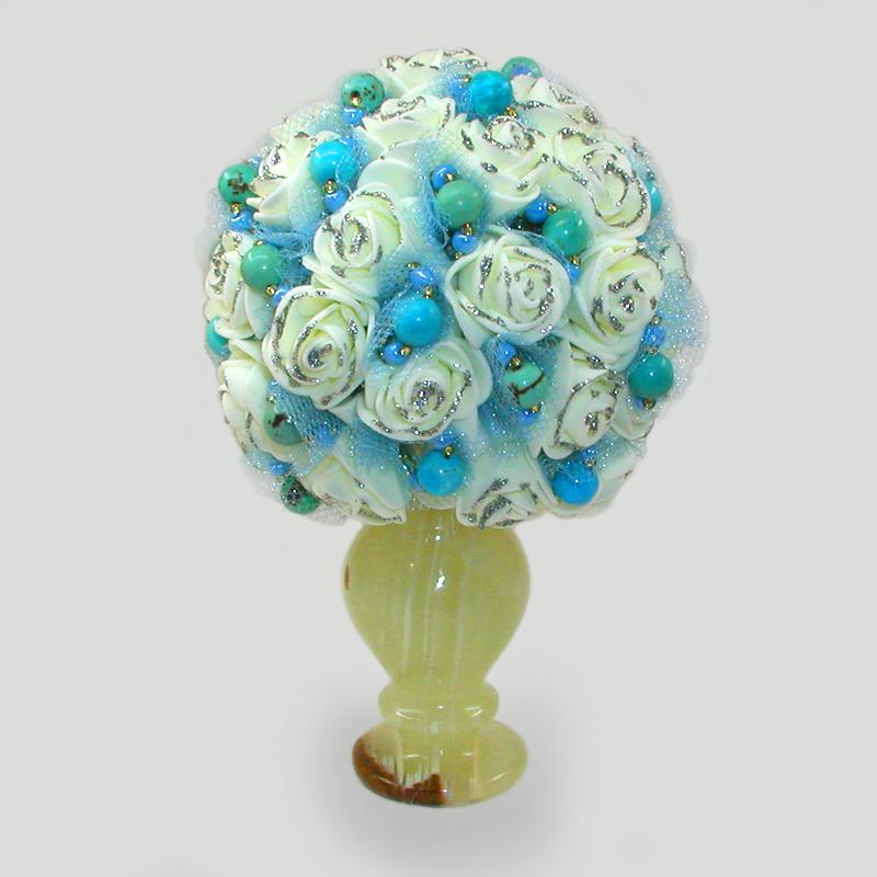 Цветы из бирюзы Доналая