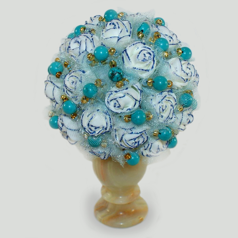 Цветы из бирюзы Аралай
