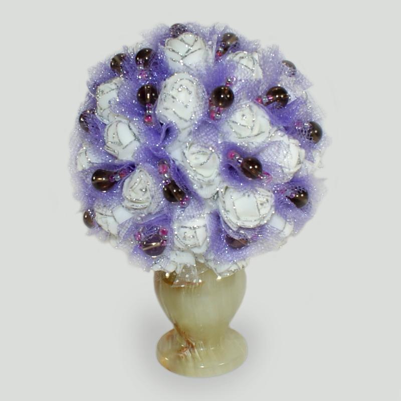 Цветы из дымчатого кварца
