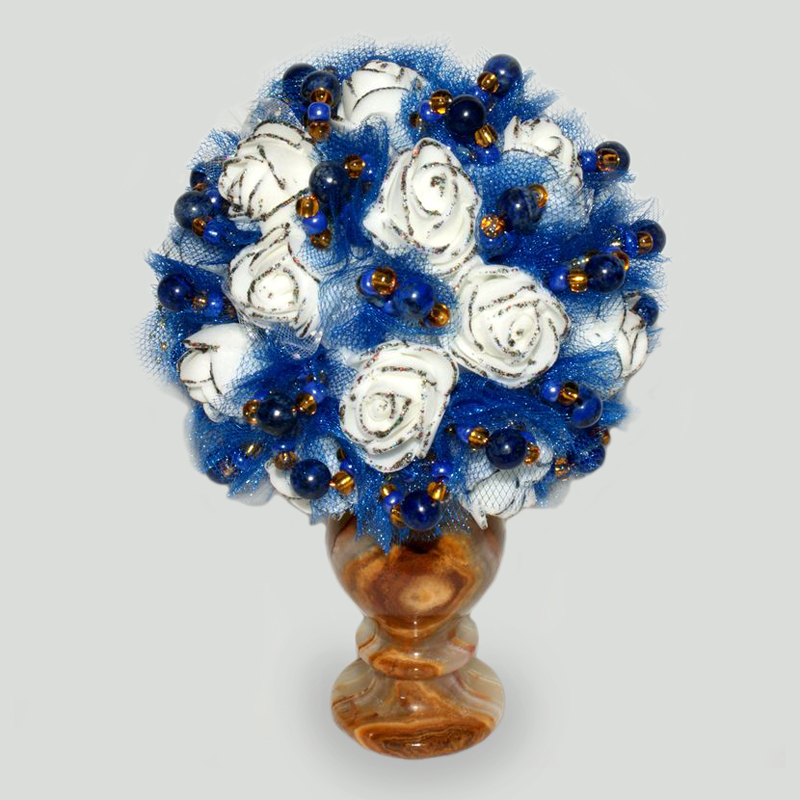 Цветы из лазурита Джориа
