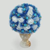 Цветы из бирюзы