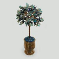 Дерево из лазурита, топаза и горного хрусталя Асой