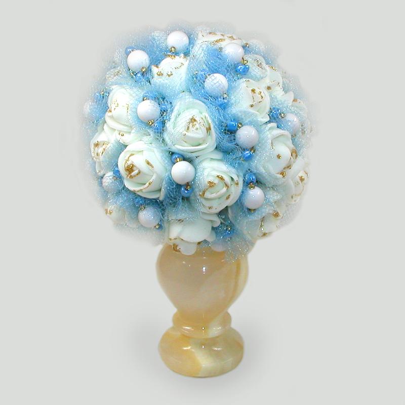 Цветы из кахолонга (молочного опала) Алария