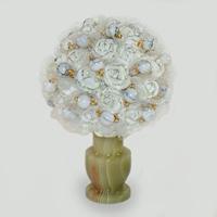 Цветы из кахолонга (молочного опала) Ассори