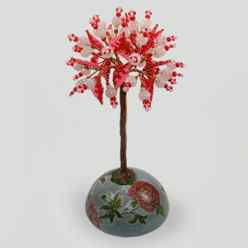 Дерево из розового кварца Дрилая