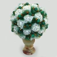 Цветы из малахита Алонса