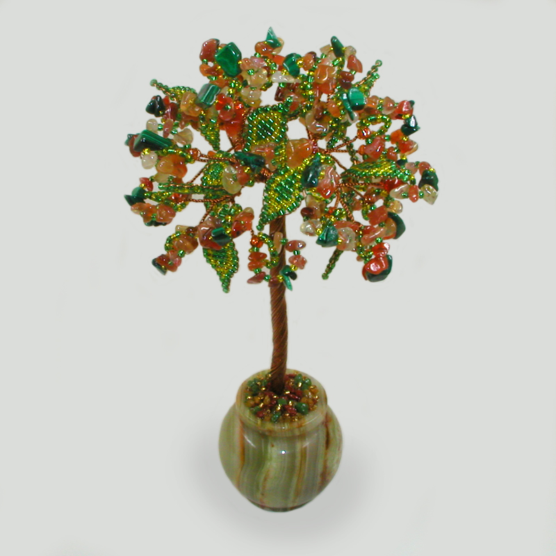 Дерево из сардоникса и малахита Нирин