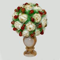 Цветы из сардоникса Ридин