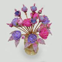 Цветы из агата Лоэль