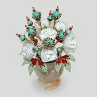 Цветы из бирюзы Шандарий