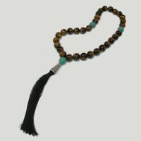 Купить четки мусульманские из тигрового глаза ручной работы «Гафур» в интернет-магазине Chetki24.ru