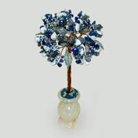 Дерево из лазурита и кахолонга (молочного опала) Риана