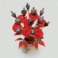 Цветы из агата Шандариан