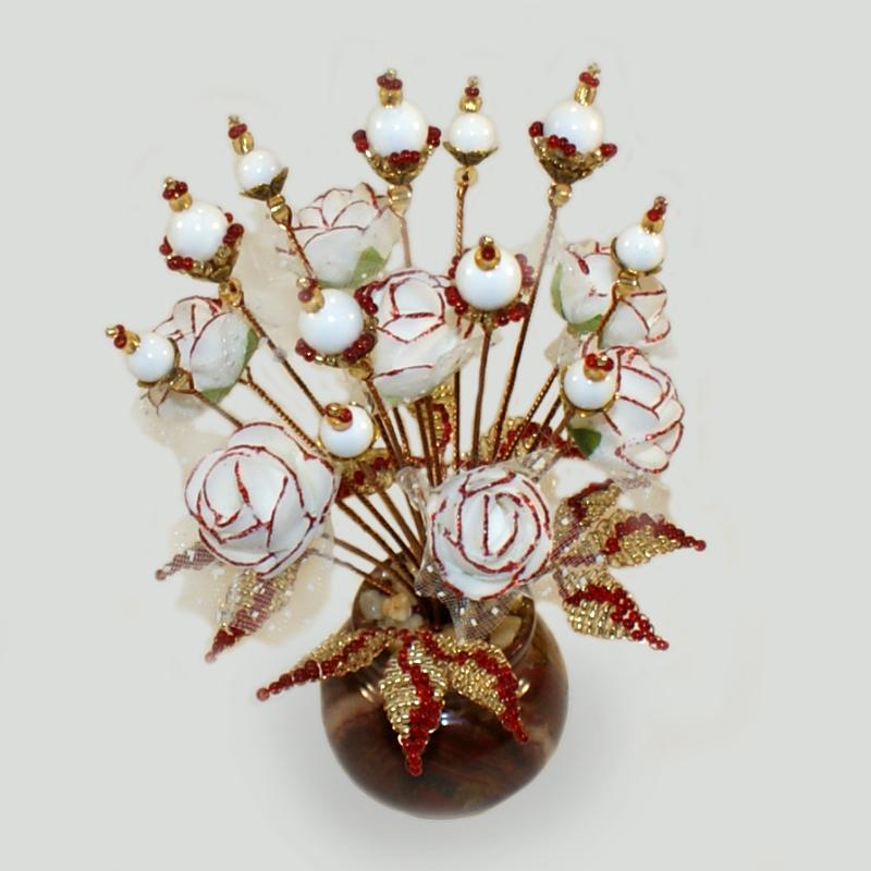 Цветы из перламутра «Белая нежность»