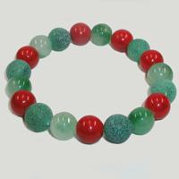 Браслет из агата, нефрита и коралла «Краски чувств»