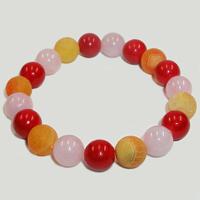 Браслет из агата, розового кварца и коралла «Добра и удачи»
