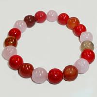 Браслет из сердолика, розового кварца и коралла «Сама душа»