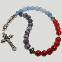 Православные четки из коралла, аметиста и агата «Ваше торжество»