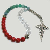 Четки из горного хрусталя, агата и коралла «Верность в жизни»