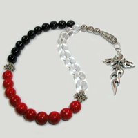 Четки из горного хрусталя, агата и коралла «Дух благополучия»