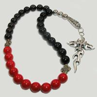 Четки из граната, агата и коралла «Восточная звезда»