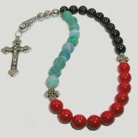 Православные четки из граната, агата и коралла «Душевное благополучие»