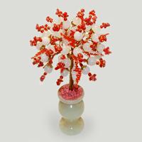 Дерево из коралла и розового кварца «Азбука верности»