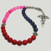 Четки из лазурита, агата и коралла «Благополучие и духовность»