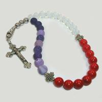 Православные четки из лунного камня, агата и коралла «Любовь к жизни»