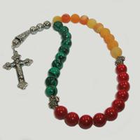 Православные четки из малахита, агата и коралла «Звук души»