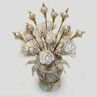 Цветы из жемчуга Делин