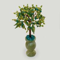 Дерево из амазонита и хризопраза «Приметы весны»
