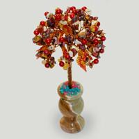Дерево из яшмы и коралла «Краски лета»