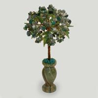 Дерево из лабрадора и малахита «Линия любви»