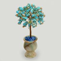 Дерево из бирюзы и сердолика «Пожелания удачи»