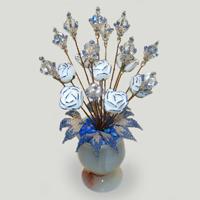 Цветы из горного хрусталя Аранеса
