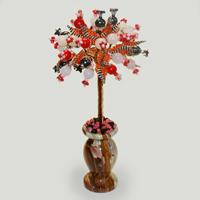Дерево из гематита, коралла и розового кварца «Наше счастье»