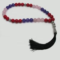 Мусульманские четки из коралла, аметиста и розового кварца «Цели в жизни»