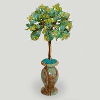Дерево из нефрита и хризопраза «Первая любовь»