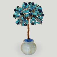 Дерево из бирюзы и лазурита «Любовь и судьба»