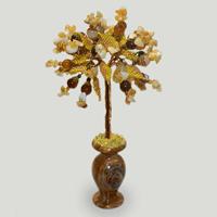 Дерево из авантюрина и сердолика «Летняя нежность»