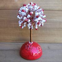 Купить дерево из коралла и кахолонга (молочного опала) «Весна красна»