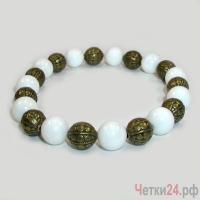 Купить браслет из селенита «Мечта невесты»