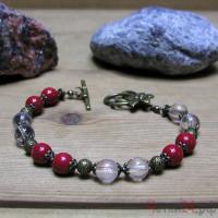 Браслет из коралла и горного хрусталя «Со всей душой» купить в интернет-магазине Четки24!