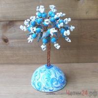 Купить дерево из бирюзы и кахолонга «Лагуна фантазий»
